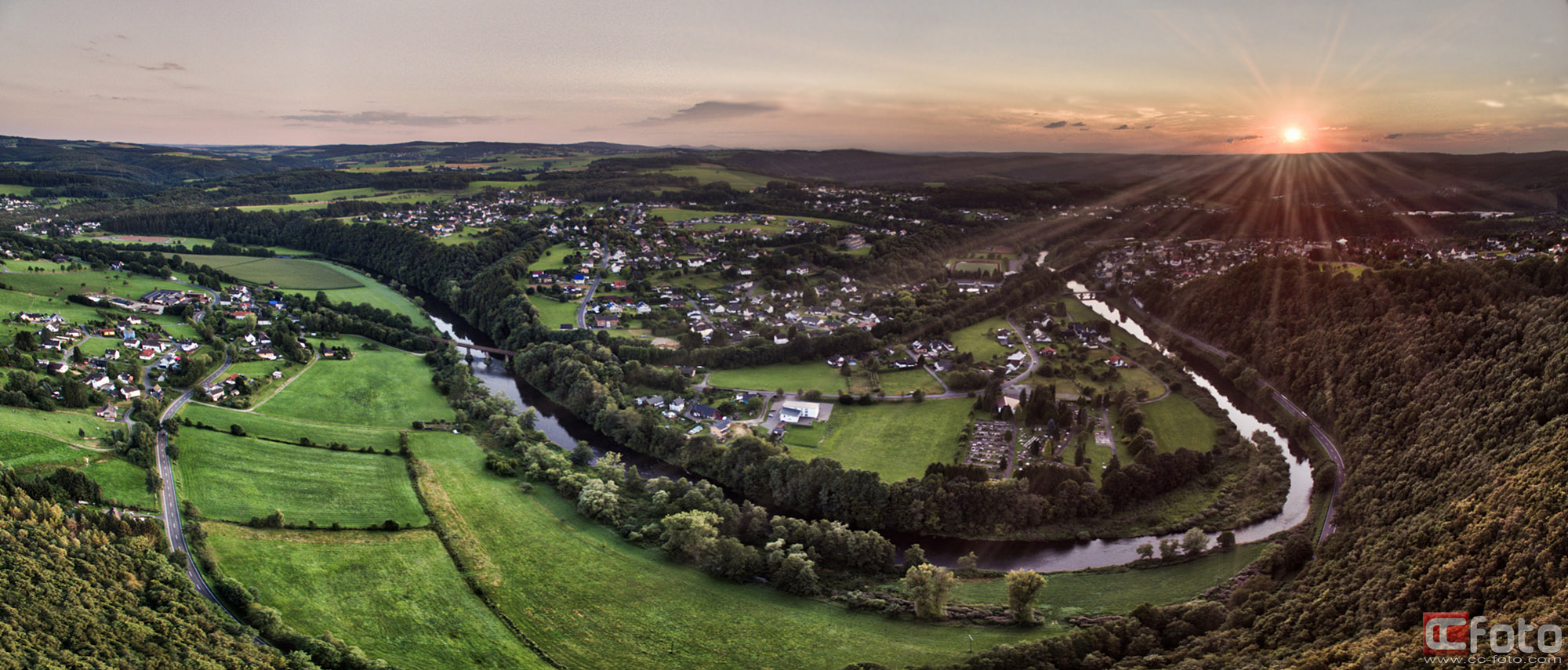"Multicopter HDR Panorama ""Alter Stuhl"""